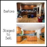 Kitchen before-after